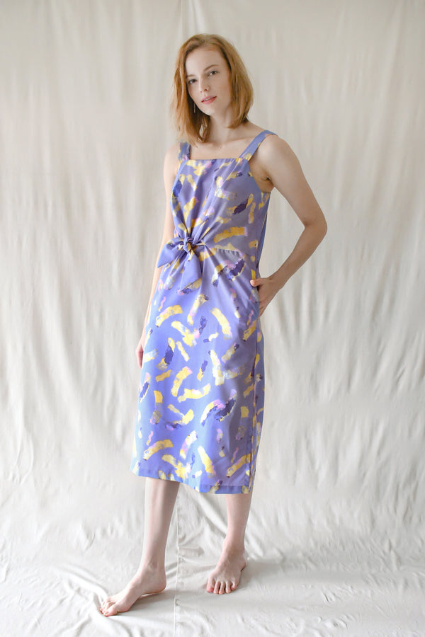 Lydia Midi Dress / Lilac Yellow