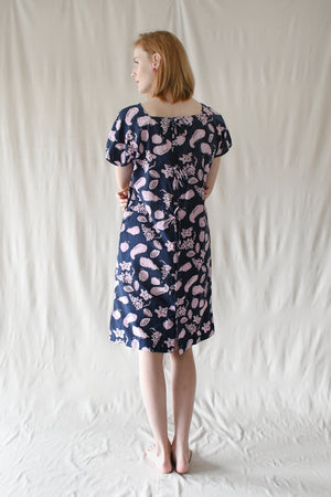 Miranda Dress / Navy Fruits
