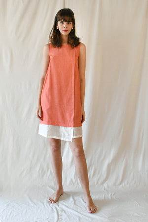 Lucille Midi Dress / Tangerine