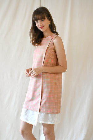 Lucille Midi Dress / Pink Checks