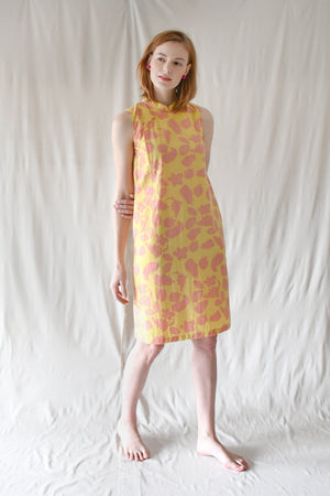 Victoria Shift Dress / Yellow Fruits