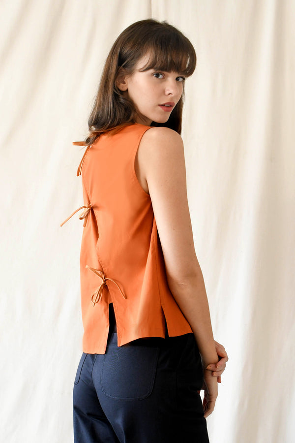 Knots Blouse / Pumpkin