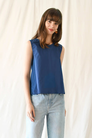 Knots Blouse / Cobalt