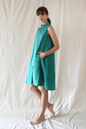 Tent Swing Dress / Turquoise