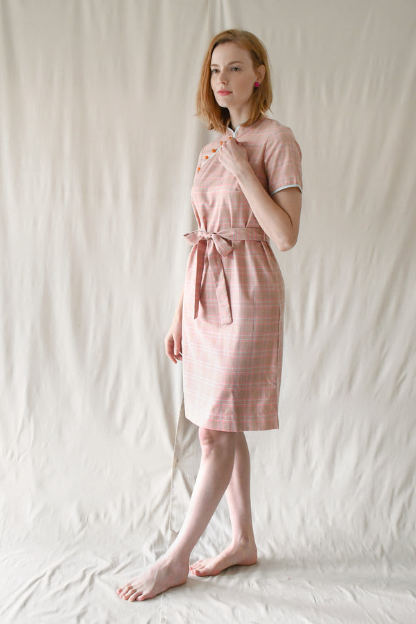 Jasmine Dress / Pink Checks