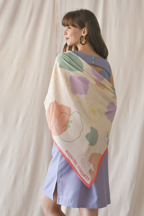 Rayon Scarf / Cream Cherry