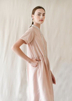 Jane Gathered Dress / Blush