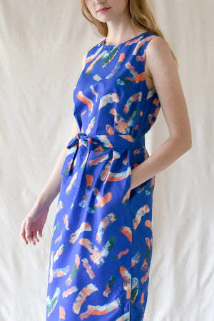 Eva Dress / Blue Splash