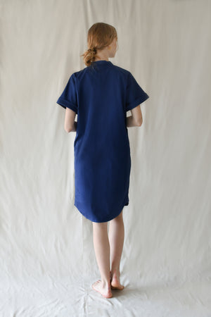 Scrunched Drawstring Dress / Midnight