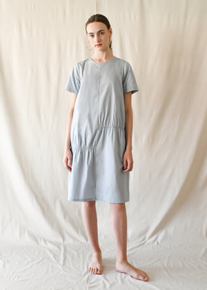 Scrunched T Dress / Mist Blue
