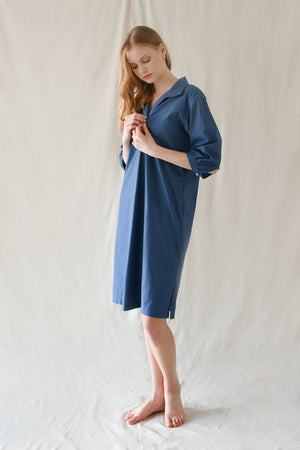 Popover Shirt Dress / River