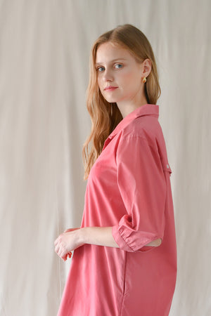 Popover Shirt Dress / Bubblegum