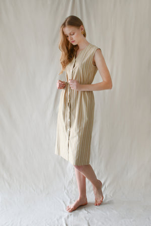 Lea Dress / Sand Stripes