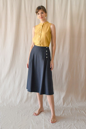 Flared Skirt / Midnight
