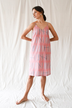 Rachel Dress / Deep Coral Sticks