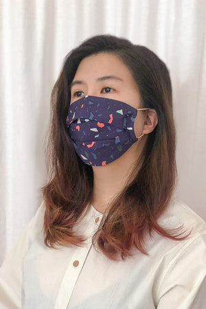 Reusable Mask / Terrazzo Navy (old)