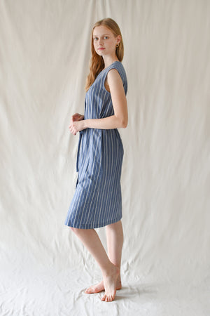 Lea Dress / Blue Stripes