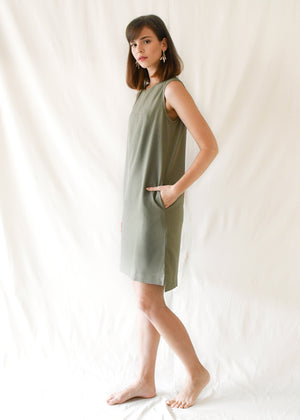 Loop Shift Dress / Moss