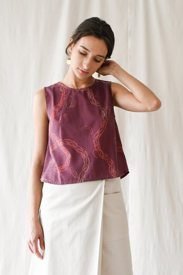 Prints Shell-top / Wine