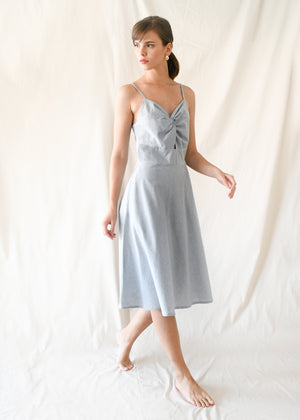 Twist Flare Dress / Blue