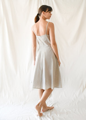 Twist Flare Dress / Oatmeal