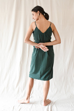Bokeh Dress / Forest Green