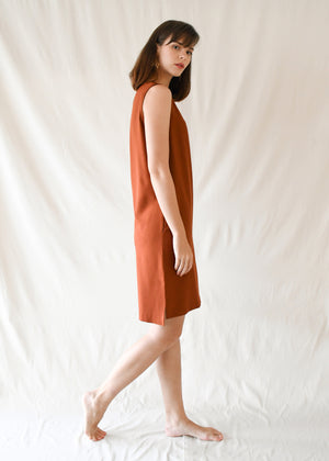 Loop Shift Dress / Rust