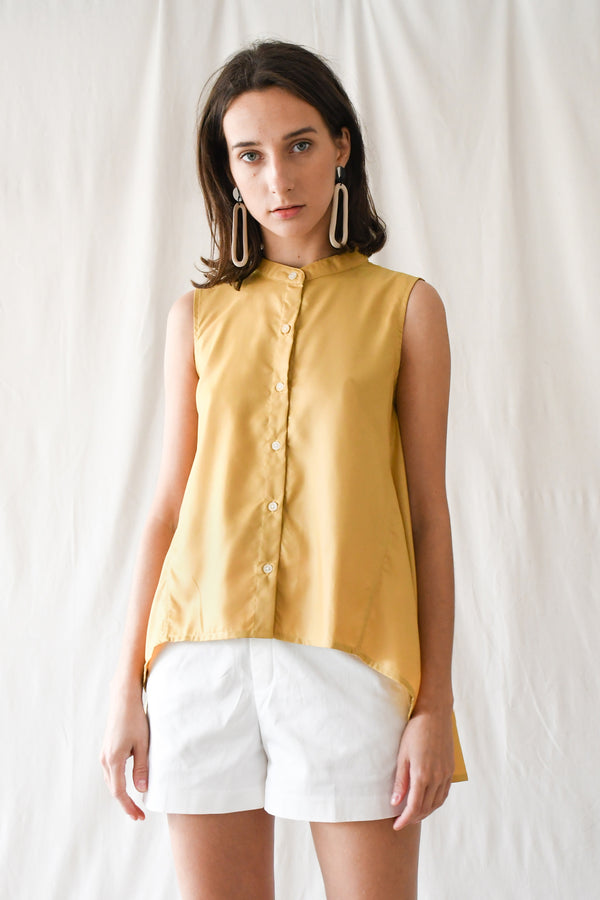 Swing Buttondown Blouse / Yellow