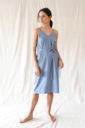 Bokeh Dress / Foam Blue