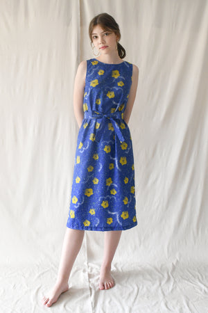 Eva Dress / Cobalt Bloom
