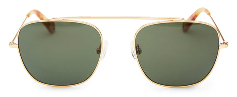 Pacifico Optical South Vintage Gold Green Lens