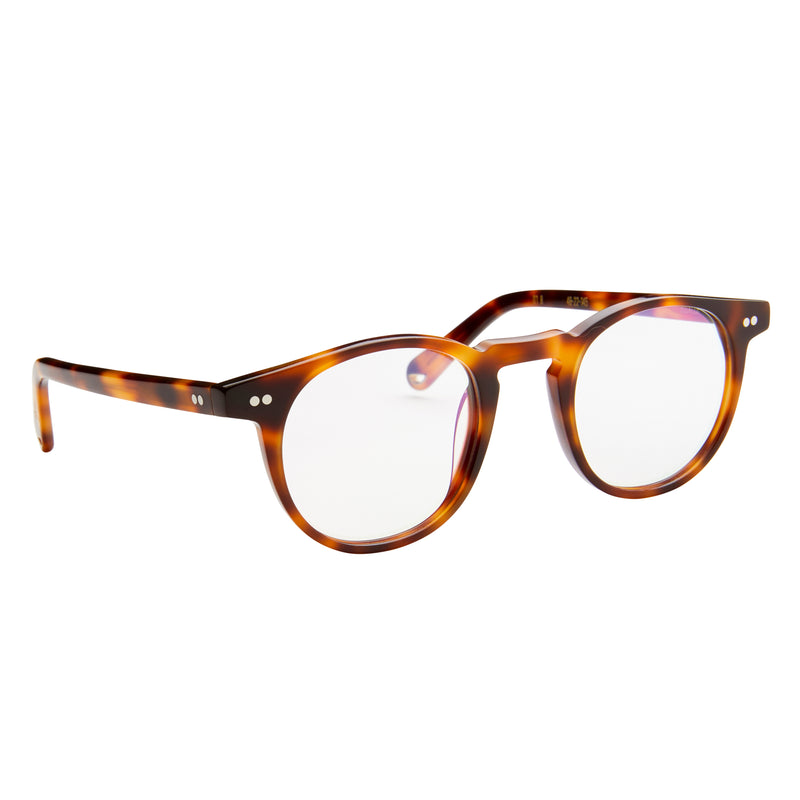 Buckler - Choc Havana with Blue Light Lenses