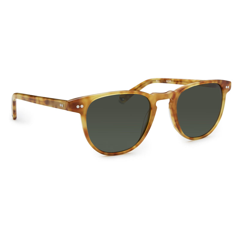 Campbell - Blonde Havana with Green Lens