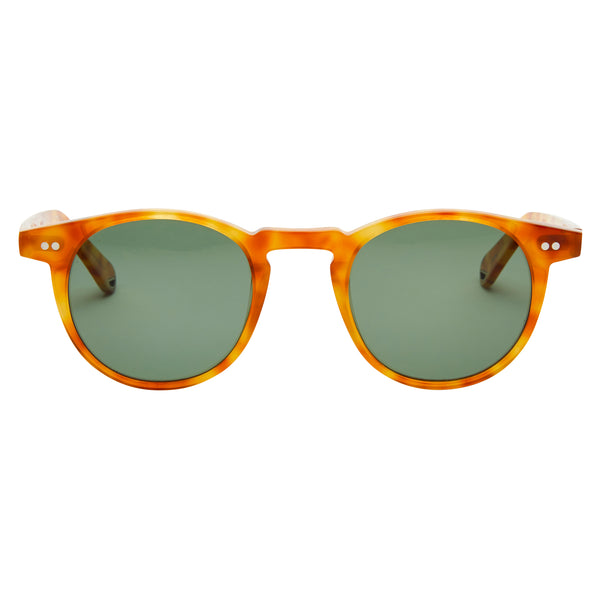 Buckler - Blonde Havana with Polarised Green Lens