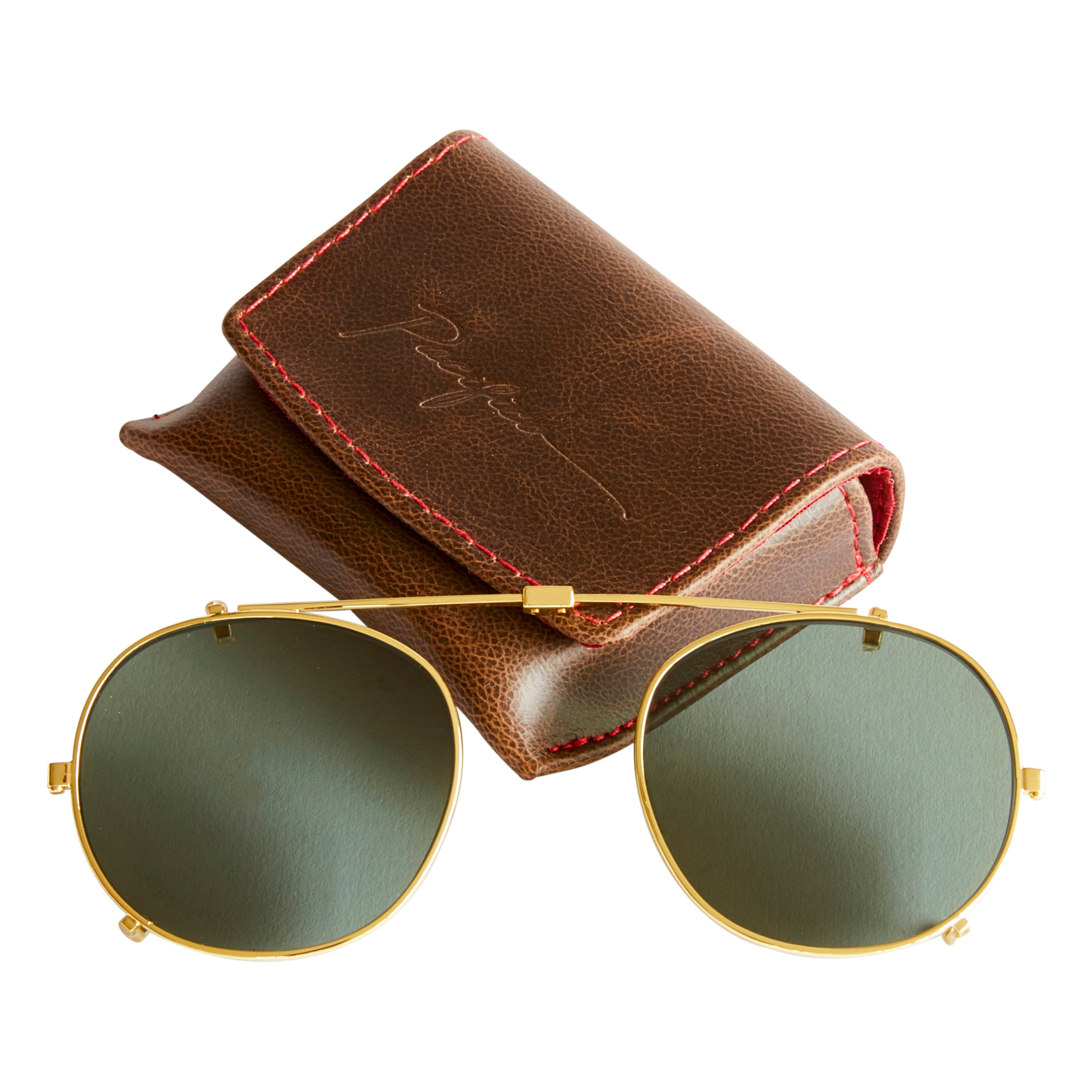 3cad1ae7639 Buckler Sun lens Clip - Green Polarised With Gold Steel - Pacifico Optical