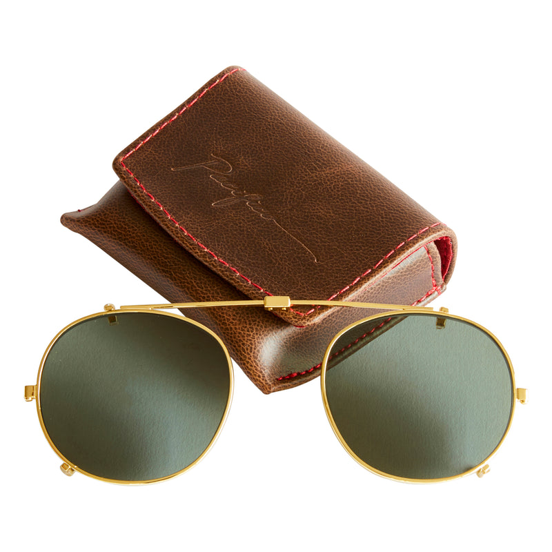 Buckler Sun lens Clip - Gold with Green Polarised Lens