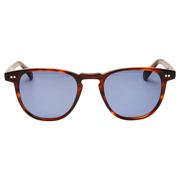 Campbell - Burnt Oak with Blue lens