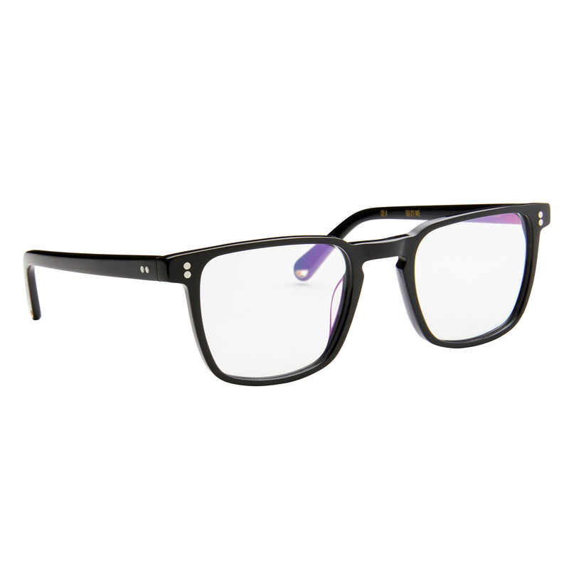 Wallis - Black with Blue Light Blocking Lens
