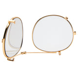 Clip-On Lens - Gold with Gold Mirror lens: Buckler & Carter Fit