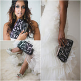 ANGEE W. clutch on bride - Photo by Sharon Litchfield
