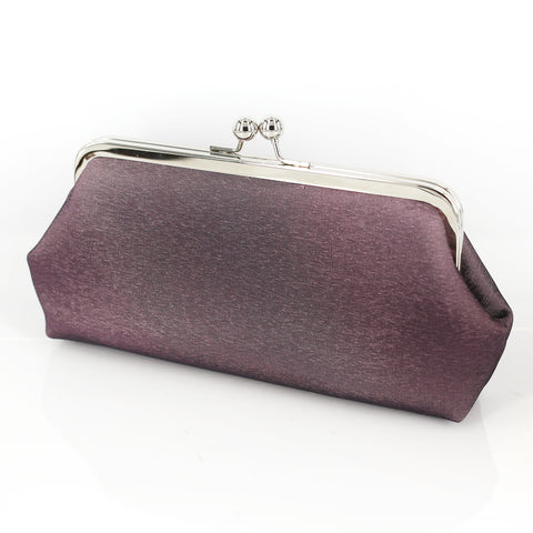 Muted Purple Satin Clutch Bag