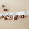 Rose Gold Pearl Bridal Garter | Charlotte by ANGEE W