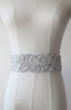 Statement Metallic Silver Thread Hand Embroidery Rhinestone Sash | by ANGEE W.
