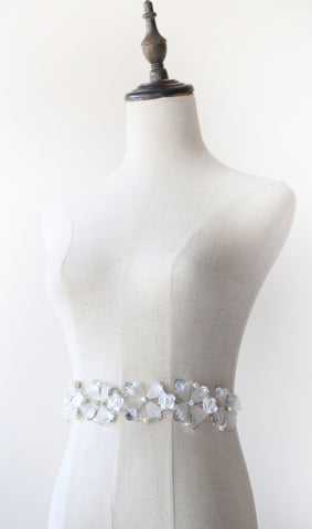 Four-Petal Millinery Flower Bridal Belt / Sash | Quatrefoil by ANGEE W.