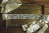 Silver Statement Crystal Sash | Geometric