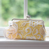 Yellow: Floral Lace Clutch in Pastel and White - L'HERITAGE ANGEEW