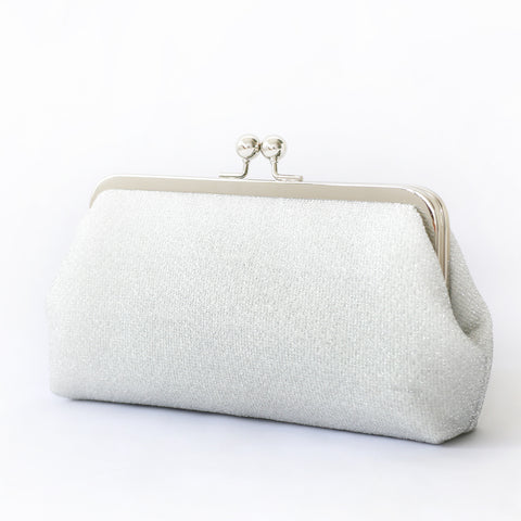 Sparkly Metallic Clutch in Silver