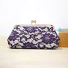 Purple Lace Champagne Clutch Bag