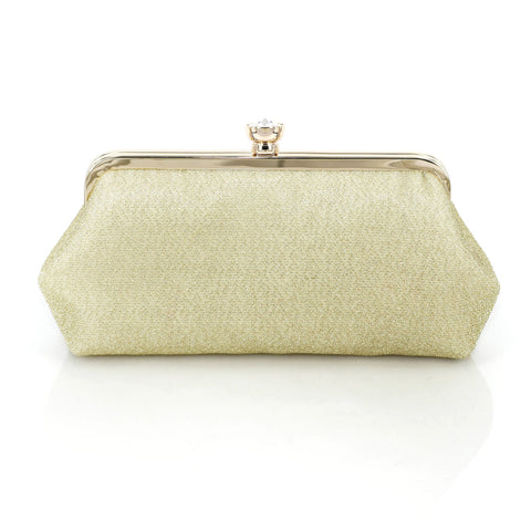 Shimmery Antique Gold Clutch Bag
