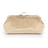 Champagne Velvet Photo Clutch Bag